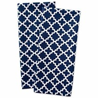 DII Cotton Lattice Dish Towels with Hanging Loop,