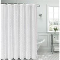 "Dainty Home Snowball Shower Curtain 70"" x 72"""