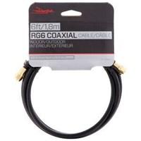 "ROCKETFISH 6""RG6 COAXIAL CBL RF-RG66BK-C"