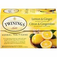 Twinings of London Herbal Lemon and Ginger Tea