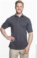 Jerzees Men's XL Polo T-Shirt, Grey