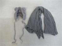 New Born Baby Photo Shoot Hat/Swaddle, Grey