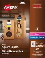 Avery Print-to-The-Edge Square Labels for Laser
