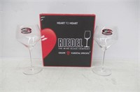Riedel Heart to Heart Chardonnay Glasses, Set of