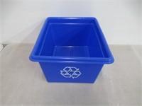 """Norseman Plastics 12"""" x 14"""" x 8"""" Recycling Bin"""