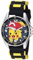 Pokemon Silver Tone Analog-Quartz Watch with