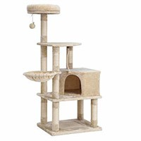 FEANDREA Cat Tree Tower with Scratching Board,