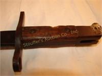 "Arisaka Type 99 bayonet w/ scabbard- blade 15 3/4"""