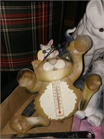 Cat Thermometer & Figurines