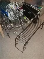 Briefcase & Metal Shelves