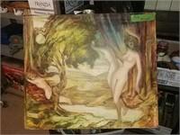 """Nude Art On Wood 24"""" X 28"""""""