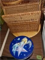 Baskets & Angel Tin