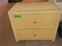 """2 Drawer Wicker Cabinet 27"""" X 18"""" x 23"""" With"""