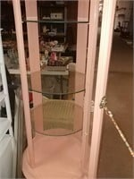 Round Display Cabinet With Bow Glass Needs