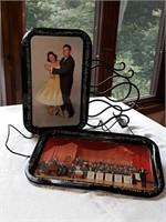 Lawrence Welk snack trays, wine rack
