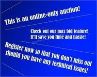 Auctioneer's Notes: visit stouffersauctionco.com