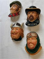Legend figurines (7) by Wright made in England
