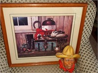 Wells Fargo Western Print with Bossons Rawhide