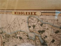 Middlesex map print , St. Paul's Cathedral