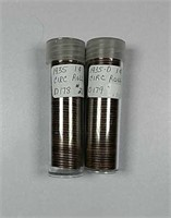 1935 & 1935-D  Rolls of circulated Lincoln Cents
