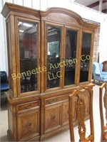 DINING SET W/ 8 CHAIRS, BREAKFRONT, & SIDEBOARD