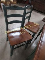DROP LEAF TABLE W/ 6 CHAIRS
