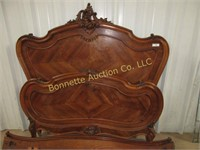 ANTIQUE FRENCH CARTOUCHE TOP BED