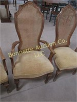 EIGHT CANE GOLD DINING CHAIRS