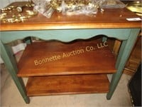 THREE TIER TABLE, FIREPLACE SCREEN,