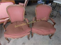 FRENCH ARM CHAIRS & VANITY STOOL
