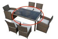 WIKER DINING TABLE - TABLE ONLY