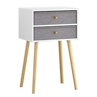 LANGRIA NIGHT STAND WITH 2 DRAWERS