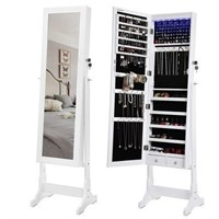 SONGMICS 6 LEDS JEWELRY CABINET LOCKABLE STANDING