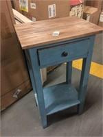 LIGHT BLUE END TABLE