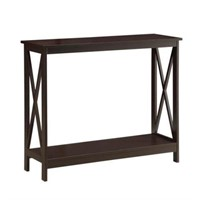 OXFORD ESPRESSO CONSOLE TABLE (NOT ASSEMBLED)