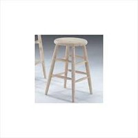 UNFINISHED WOODEN BAR STOOL 2'