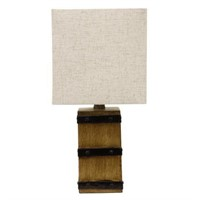"DECOR THERAPY CAMPBELL 15.5"" IN BROWN TABLE LAMP"