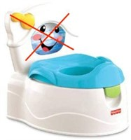 FISHER-PRICE LEARN-TO-FLUSH POTTY, MISSING BACK