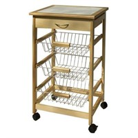 KITCHEN CART WITH 3 BASKETS (NOT ASSEMBLED)