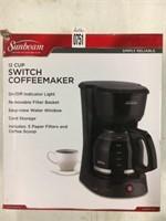 SUNBEAM 12CUP SWITCH COFFEEMAKER