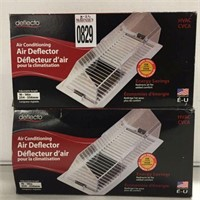 SET OF 2 DEFLECTO AIR CONDITIONING AIR DEFLECTOR