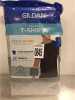 MENS 5 PACK LARGE GILDAN T-SHIRTS