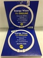 SET OF 2 BULBRITE ENERGY WISER T5 CIRCLINE