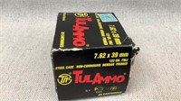 (approx qty - 800rds) 7.62x39mm and Ammo Can-