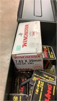 (approx qty - 300rds) 7.62x39mm and Ammo Can-