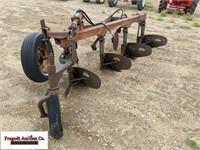 McCormick No 412 Moldboard Plow, 4 Bottom, 3 Coult