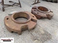 (2) Misc tractor wheel weights