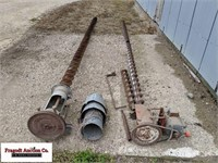 (2) Bin unload augers, (1) with electric motor, fo