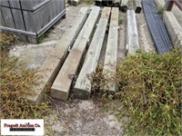 "(5) Treated wood posts, 5"" x 6"" x 8'"