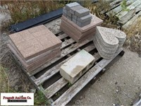 Pallet of misc Landscaping blocks